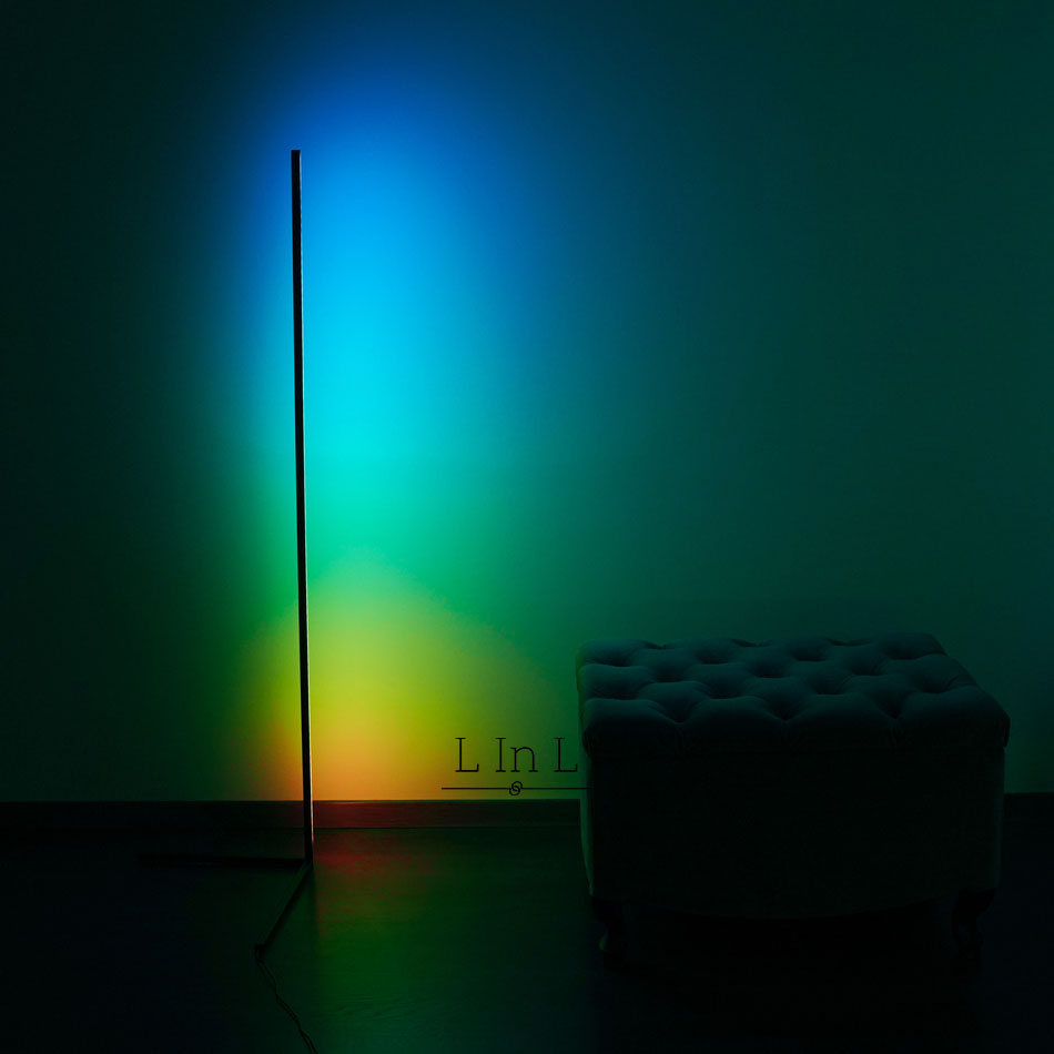Sindra lamp colorful next to wall